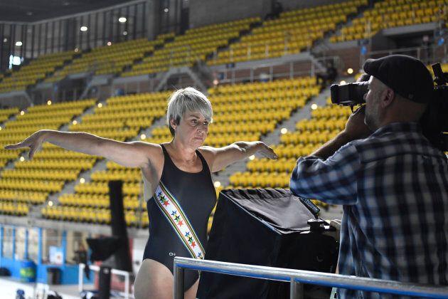 Sylvie Bernier a recommencé l'entraînement à 54 ans pour finalement replonger le 21 octobre 2018, au...