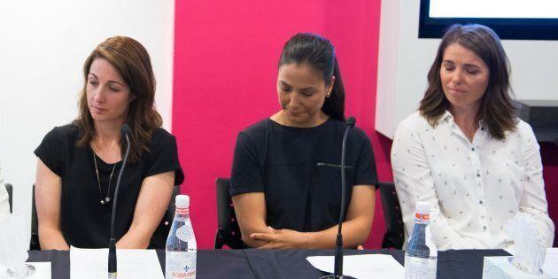 Photo d'archives de Gail Kelly, Anna Prchal et Geneviève