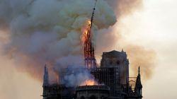 Voyez les images de l'effondrement de la flèche de Notre-Dame de