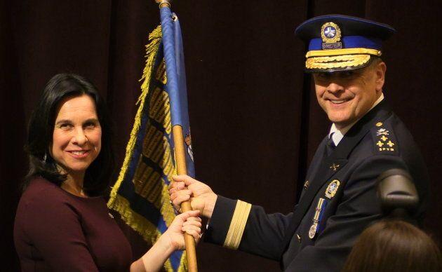 Sylvain Caron a été assermenté mercredi comme directeur du Service de police de la Ville de Montréal,...