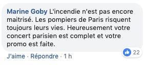 Hubert Lenoir profite de l'incendie à Notre-Dame de Paris pour faire sa