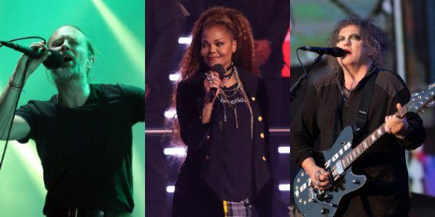 Radiohead, Janet Jackson et The