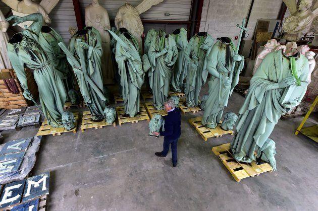 La restauration des statues n'est plus une priorité après le tragique incendie de la cathédrale Notre-Dame...