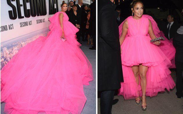 Tüll-Alarm bei Jennifer Lopez: Dieses Kleid passt nur in einen