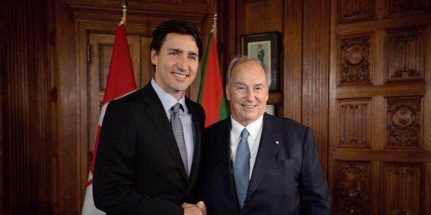 Photo d'archives de Justin Trudeau et de l'Aga