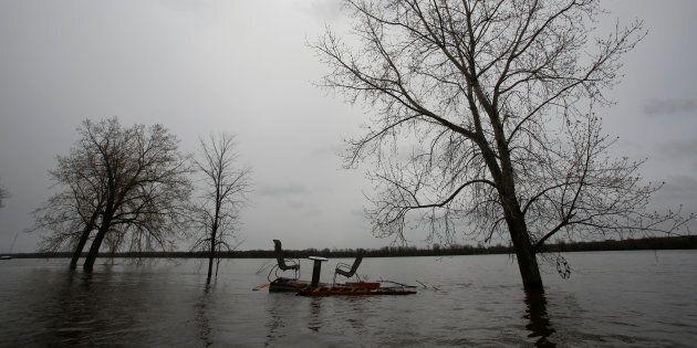 Photo d'archives des inondations qui ont eu lieu à Gatineau en