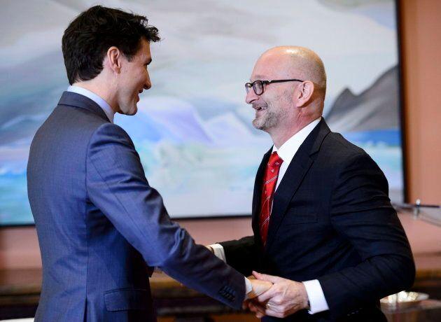 Justin Trudeau et David