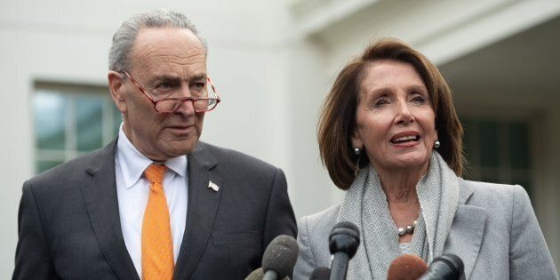 Photo d'archives de Chuck Schumer et Nancy