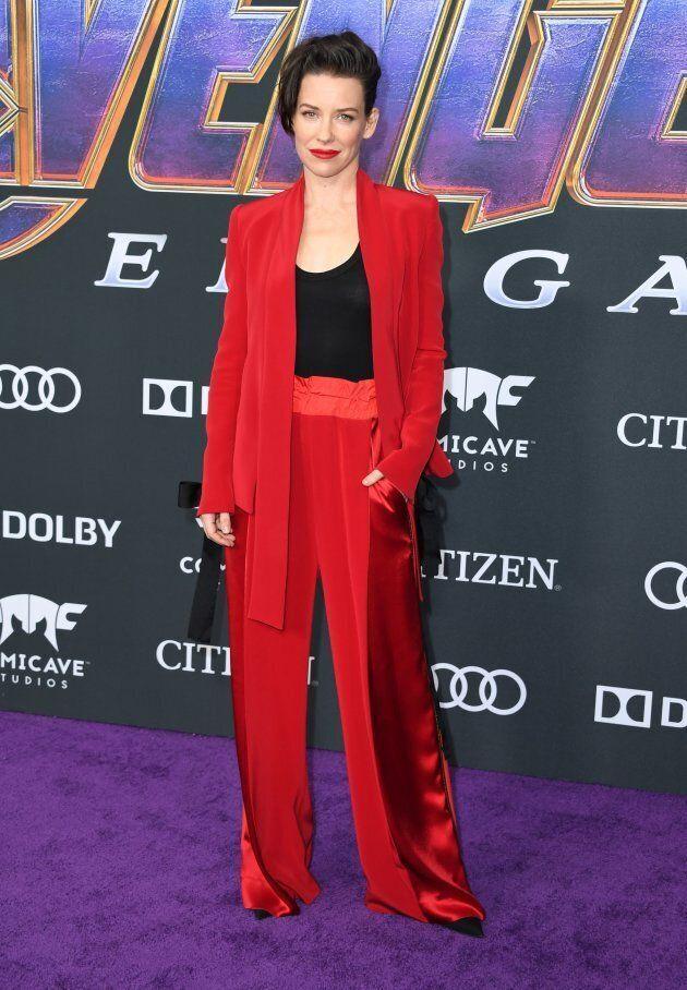 Evangeline Lilly magnifique en Denis Gagnon pour la première d'Avengers: