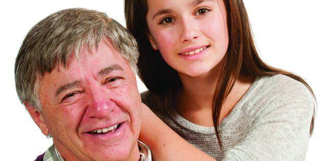 Gaston Martin, greffé du coeur, et sa petite-fille Mégane, il y a quelques