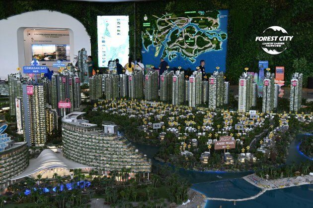 Une maquette présente le projet de Forest City en