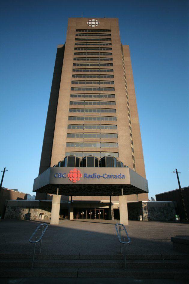 La tour de l'actuelle Maison Radio-Canada a des allures plutôt lugubres.