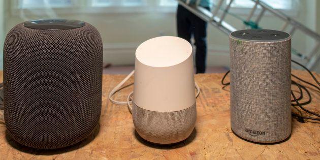L'Apple HomePod, le Google Home et l'Amazon