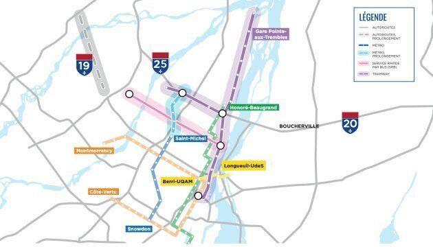 Le Plan de décongestion présenté par la Coalition avenir Québec lors de la campagne électorale de