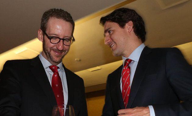 Gerald Butts et Justin Trudeau en