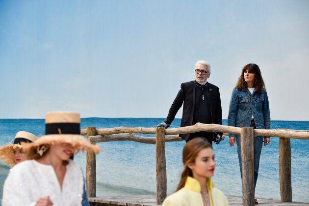 Karl Lagerfeld et Virginie