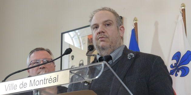 Benoit Dorais, président du comité exécutif et responsable des finances au sein de l'administration Plante, à Montréal. (Crédit: Olivier Robichaud)