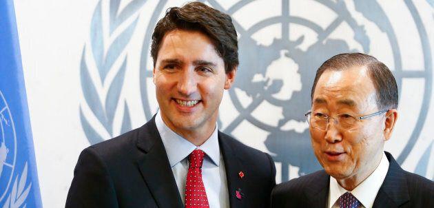 Le premier ministre Justin Trudeau, champion du concept «d'État post-national», lors d'une rencontre...