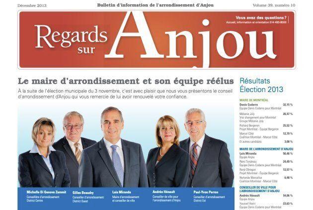 Michelle Zammit (gauche) a d'abord été élue sous la bannière d'Équipe Anjou avec le maire Luis Miranda....