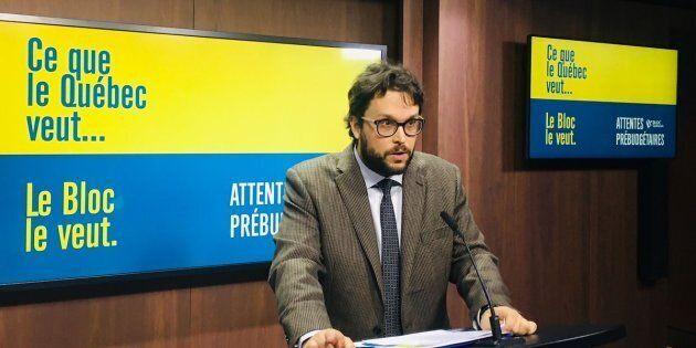 Gabriel Ste-Marie a expliqué les priorités du Bloc québécois en vue du