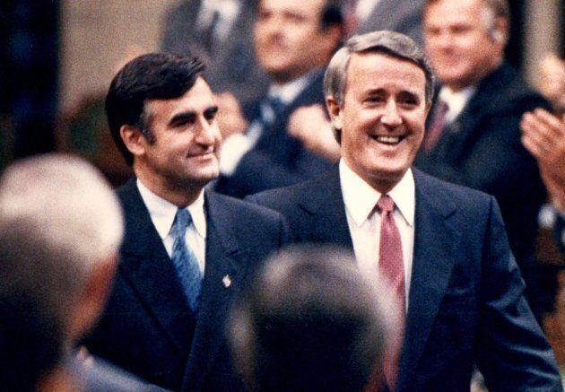 Lucien Bouchard s'était joint au gouvernement conservateur de Brian Mulroney en 1988.