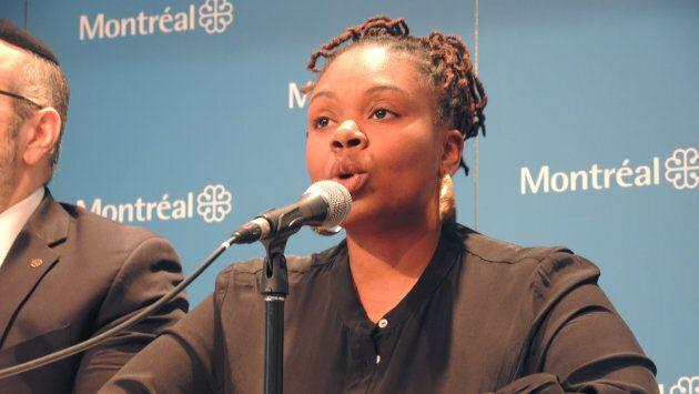 Tiffany Callender, porte-parole de l'Association de la communauté noire de Côte-des-Neiges.