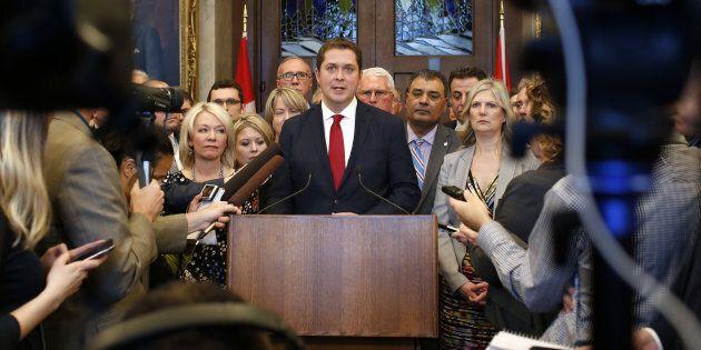 Andrew Scheer et son parti ont fait beaucoup de bruit durant le discours du budget,