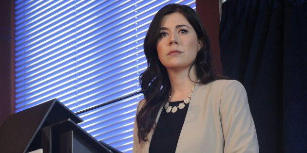 Catherine Fournier, députée provinciale de Marie-Victorin, a quitté le Parti québécois pour siéger comme...