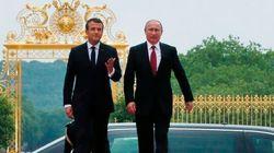 Macron accueille Poutine au château de