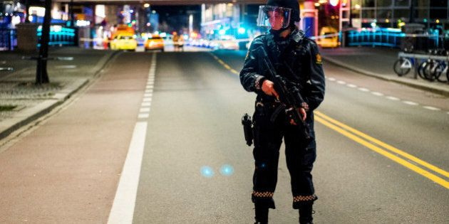 Police have block a area in central Oslo and arrested a man after the discovery