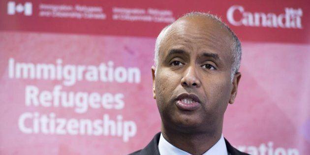 Photo d'archives d'Ahmed Hussen, ministre de l'Immigration, des Réfugiés et de la