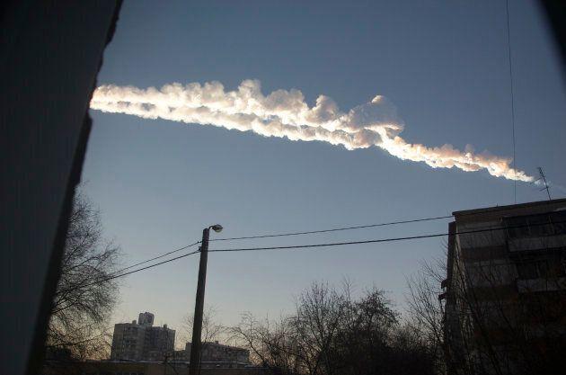 La météorite avait laissé sa trace après son passage dans le ciel de