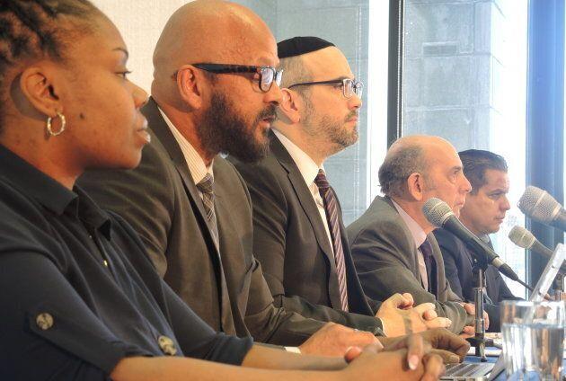 De gauche à droite: Tiffany Calender, de l'Association de la communauté noire de Côte-des-Neiges, Alain...