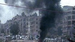 Homs pilonnée avant l'arrivée des