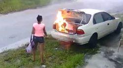 Elle met le feu à la mauvaise voiture en voulant se venger de son ex