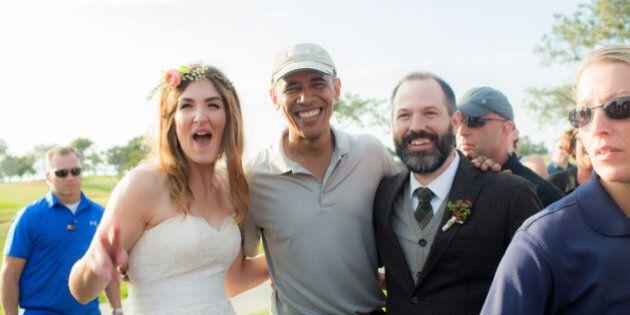 Barack Obama s'immisce dans un mariage à San Diego