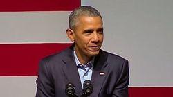 Obama s'amuse des ambitions présidentielles de Kanye West
