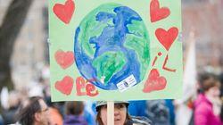 Photos: Journée de la terre à Montréal: une manifestation