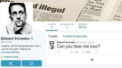 Edward Snowden débarque sur Twitter