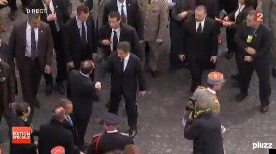 François Hollande et Nicolas Sarkozy ensemble aux cérémonies du 8 mai