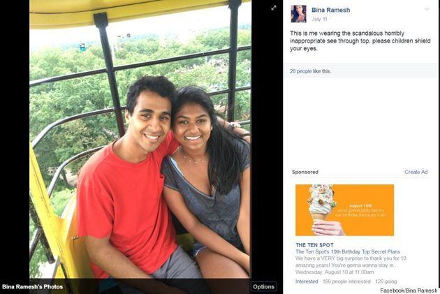Elle échange de t-shirt avec son ami après qu'un parc d'attractions eut jugé le sien inapproprié pour...