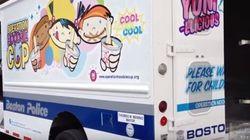 La police de Boston a un nouveau véhicule... un camion de crème