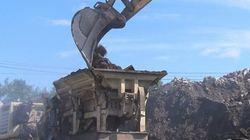 Les débris de l'échangeur Turcot