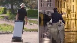 Ce canoë origami fait la taille d'une valise une fois