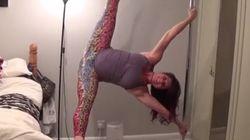 Enceinte, elle fait du pole dance alors que ses contractions ont