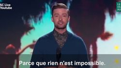 Ce message de Justin Timberlake aux ados est un modèle de tolérance