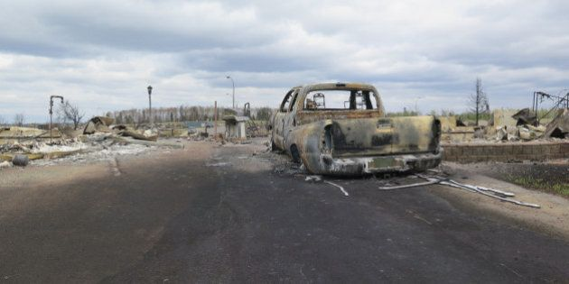 FORT MCMURRAY, AB - MAY 9: Wildfire devastation as shown from a media tour. (Katie Daubs/Toronto Star...
