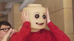 Ce bonhomme Lego sort tout droit d'un film d'horreur