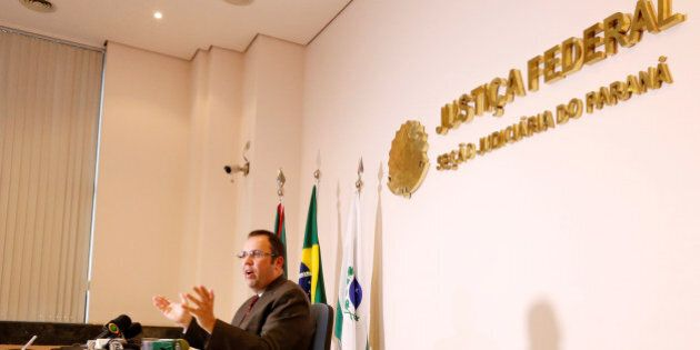Federal judge Marcos Jesegrei da Silva gives a press conference about the pre-emptive arrest of 10 people...