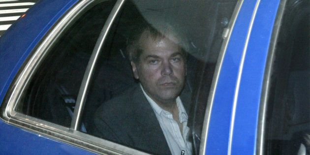 FILE - In this Nov. 18, 2003 file photo, John Hinckley Jr. arrives at U.S. District Court in Washington....